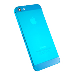 iPhone 5 Battery Back Cover in Metallic Light Blue with Small Parts