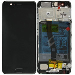 Genuine Huawei P10 Complete lcd and touchpad in black incl battery- Part no: 02351DGP