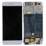 Genuine Huawei P10 Complete lcd and touchpad in Silver/White - Part no: 02351ENH/02351DQN