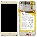 Genuine Huawei P10 Lite Lcd and touchpad with battery, speaker & Side buttons in Gold - Part no: 02351FSN