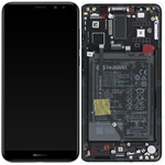 Genuine Huawei Mate 10 Complete lcd and frame with Battery in Black - Part no: 02351QAH