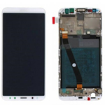 Genuine Huawei Mate 10 Lite Dual Sim Complete lcd and frame with Battery in White - Part no: 02351QXU