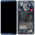 Genuine Huawei Mate 10 Pro Complete lcd ad touchpad with frame and battery in Blue - Part no: 02351RVH