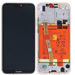 Genuine Huawei P20 Lite (ANE-L21) Complete lcd with frame and battery, speaker in Pink - Part no: 02351XUB,02351VUW