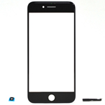 iPhone 7 Glass Lens with adhesive in Black