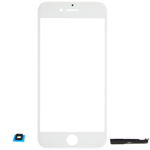 iPhone 7 Glass Lens with adhesive in White