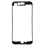 iPhone 7 Plus LCD Frame with hot compression adhesive in Black - Replacement part (compatible)