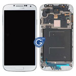 Samsung Galaxy S4 GT-i9500 Complete lcd and digitizer with frame in White Refurbished as new
