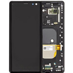 Genuine Sony H8416/H9436 Xperia XZ3 Complete Lcd with Digitizer and Frame in Black-Sony part no:1315-5026