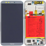 Genuine Honor 9 Lite Complete lcd and touchpad in Grey with battery, side buttons - part no: 02351SNR