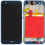 Genuine Huawei P10 Lite Lcd and touchpad with battery, speaker & Side buttons in Blue - Part no: 02351FSL