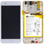 Huawei P9 Lite Mini Complete lcd with touchpad and battery in White - Part no: 02351TUY