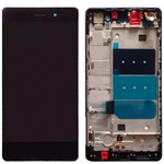 Genuine Huawei Ascend P8 Complete Lcd and Digitizer With Frame In Black ( Grade A )