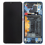 Genuine Huawei Mate 20 pro (LYA-L09) Complete lcd with frame and battery in Midnight blue - part no: 02352GFX