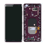 Genuine Sony Xperia XZ3 (H8416/H9436) Complete Lcd with Digitizer and Frame in Bordeaux Red-Sony part no:1315-5029