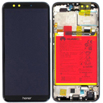 Genuine Honor 9 Lite Complete lcd and touchpad in Black with battery, side buttons - part no: 02351SNN