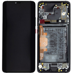 Genuine Huawei Mate 20 pro (LYA-L09) Complete lcd with frame and battery in black - part no: 02352FRL