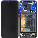 Genuine Huawei Mate 20 pro (LYA-L09) Complete lcd with frame and battery in Twighlight- part no: 02352GGC