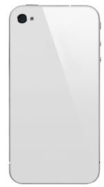 iPhone 4 Battery Cover White - No logo