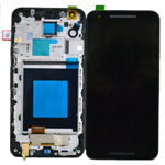 Genuine Google Nexus 5X, LG Nexus 5X H790  Complete LCD with Digitizer and Front Cover in Black- Part code: ACQ88485501 (Grade A)