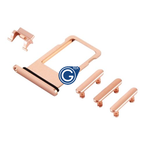 iPhone 8 Plus Sim Holder and Side Button Set in Gold