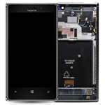 Genuine Nokia Lumia 925 Complete Lcd with Digitizer touchpad and frame in Grey -  P/N:00810B3