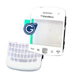 Genuine Blackberry 9360 Curve Lens/Window + Top Frame Assembly & Keypad Bezel HDW-32098-001 - 31611-03-2-02 - White