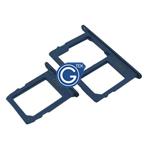 Samsung Galaxy A6 (2018) A600F,A6+ (2018) A605F SIM and MicroSD Card Holder in Blue