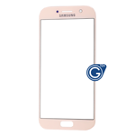Samsung Galaxy A5 SM-A520 Glass Lens with Adhesive in Pink
