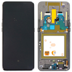 Genuine Samsung Galaxy A80 (SM-A805F) lcd and touchpad in Silver - part no: GH82-20348B