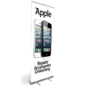Pull Up Banner Stand for Shop Display Showing Apple Repairs, Accessories & Unlocking - Shipped to UK Only