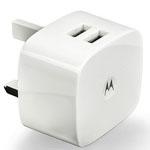 Genuine Motorola DUAL USB Mains Adaptor 1.5A  for iPhone, iPad, Samsung, HTC, LG etc - Part no:  SPN5799A