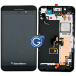 Genuine Z10 Complete lcd and digitzer with frame, chassis and parts in black - 001 4G version