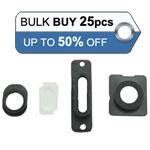 Bulk 25pcs iPhone 5S camera lens, earphone chrome ring ,charging connector ring and flash light 4pcs set in Black