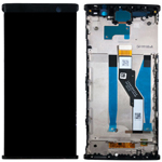 Genuine Sony Xperia XA2 Plus SS lcd and touchpad with frame in Black - Part no 78PC5100010