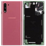 Genuine Samsung Note 10 (N970) Battery Cover In Aura Pink - Part no: GH82-20528F