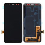 Genuine Samsung Galaxy A8+ 2018 (A730F) lcd and touchpad in Black - Part no: GH97-21535A