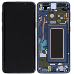 Genuine Samsung S9 (G960F) Complete lcd with frame assembly unit in Blue - Part no: GH97-21696D