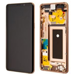 Genuine Samsung S9 (G960F) Complete lcd with frame assembly unit in Sunrise Gold - Part no: GH97-21696E