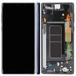 Genuine Samsung Galaxy Note 9 (SM-N960F) Complete lcd with frame in Ocean Blue - Part no: GH97-22269B , GH97-22270B