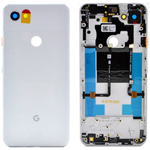 Genuine Google Pixel 3a XL ROW Clearly White Battery Cover - Part no: 20GB4WW0003