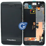 Genuine Blackberry Z10 Complete lcd and digitzer with frame, chassis and parts in black - 001 3G version