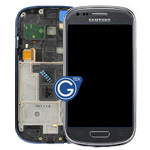 Genuine Samsung GT-I8190 S3 Mini complete lcd and digitizer with frame in Titanium Grey - GH97-14204D