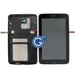 Genuine Samsung Galaxy Tab 3 Lite T110 Complete LCD with Frame and Home Button in Black