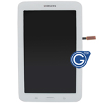 Genuine Samsung Galaxy Tab 3 Lite T110 Complete LCD with Frame and Home Button in White