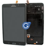 Samsung Galaxy Tab 4 7.0 SM-T231,SM-T235 Complete LCD with Frame and Home Button in Black