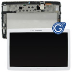 Genuine Samsung Galaxy Note 10.1 2014 Edition P600 P601 P605 Complete LCD with Frame and Home Button in White