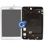Samsung Galaxy Tab 4 7.0 SM-T231,SM-T235 Complete LCD with Frame and Home Button in White