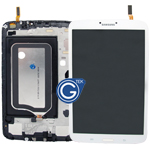 Genuine Samsung Galaxy Tab 3 8.0 Wifi Version T310 Complete LCD with Frame and Home Button in White