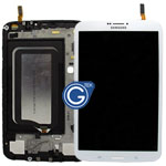Genuine Samsung Galaxy Tab 3 8.0 3G Version T311 Complete LCD with Frame and Home Button in White